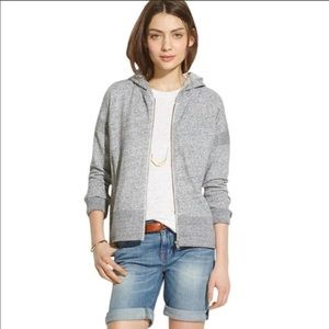 Madewell grey heathered Sz xs zip up hoodie